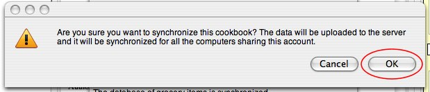 Shop'NCook: Confirm synchronize cookbook