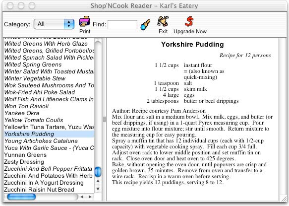 Shop'NCook Cookbook Reader