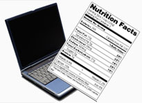 Nutrition fact labeling software