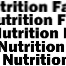 Printing the nutrition facts label in high resolution