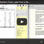 How to make a nutrition facts label