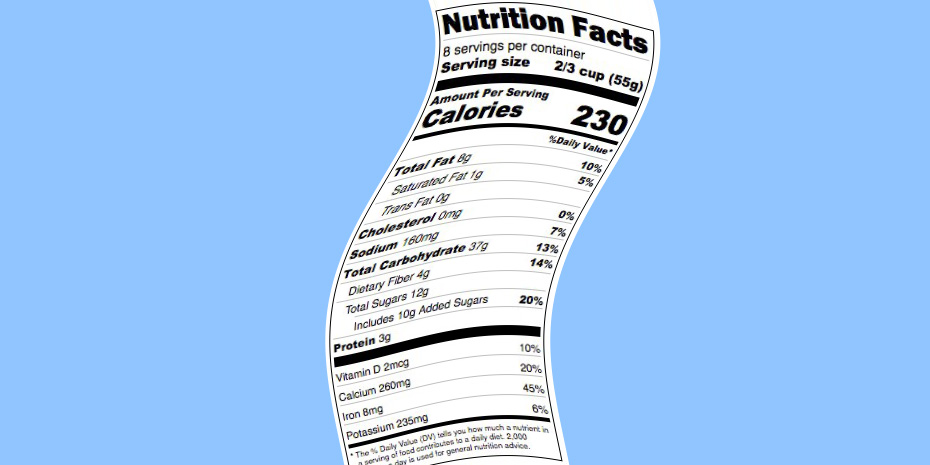 Beta testing of the new nutrition facts labelling tool